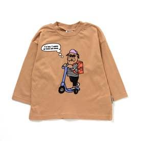 ブルドッグデリバリーTシャツ (キャメル)
