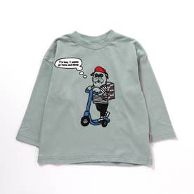 ブルドッグデリバリーTシャツ (ブルー)