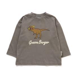 ダイナソーバーガーTシャツ (グレー)