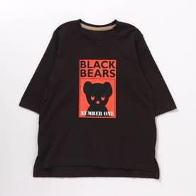 WEB限定 BLACK BEAR Tシャツワンピース(ブラック・ベア) (ブラック)