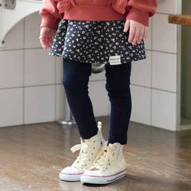 レギンス付きスカート 10分丈 10分丈 (ブラック)
