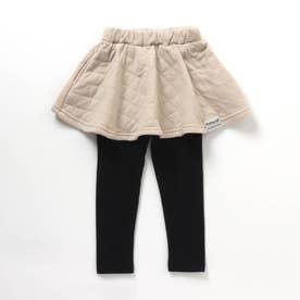 レギンス付きスカート 10分丈 10分丈 (ベージュ)