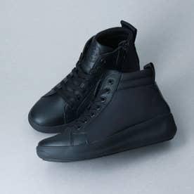 撥水加工グリップソールショートブーツ (ブラック雑材)