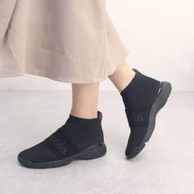 ニットスニーカーブーツ (ブラック雑材)