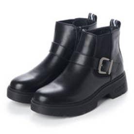 サイドゴアボリュームソールブーツ (ブラック)
