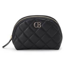 CBモノグラムシェル型ポーチ (ブラック)
