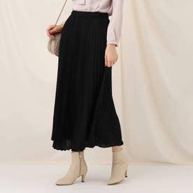 フローキードットプリーツスカート (ブラック)