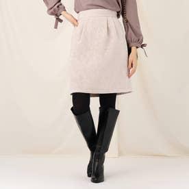 【WEB限定サイズ(LL)あり】モールジャガードタイトスカート (ライトグレー)