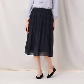 プリーツジョーゼットスカート (ネイビー)