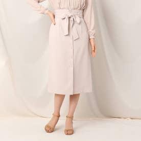 フロントボタンタイトスカート (ピンク)