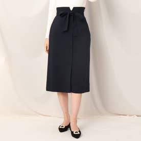 フロントボタンタイトスカート (ネイビー)