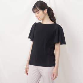 レースフレア デザインTシャツ (ブラック)
