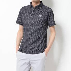 メンズ ゴルフ 半袖シャツ BDカラーシャツクールドライ切子プリント 2410134513
