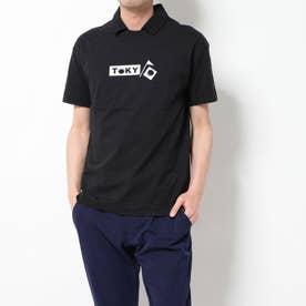 メンズ ゴルフ 半袖シャツ ポロ襟プレーティング天竺TOKYOプリント 2410134510
