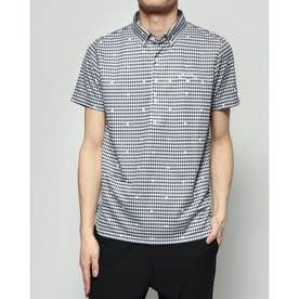 メンズ ゴルフ 半袖シャツ 半シャツBDカラーシャツ-2度COOLギンガム 2410134521