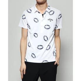 メンズ ゴルフ 半袖シャツ 半シャツカラー-2℃+200ccCWプリント 2410134523
