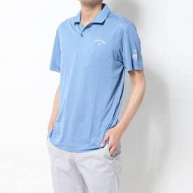 メンズ ゴルフ 半袖シャツ 半シャツポロ襟ピンドットジャカード 2410134508