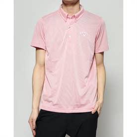 メンズ ゴルフ 半袖シャツ 半シャツBDカラーシャツコードレーン 2410134520
