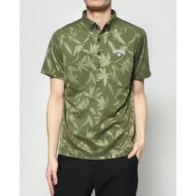 メンズ ゴルフ 半袖シャツ 半シャツBDカラーシャツクマザサ柄ジャカード 2410134528
