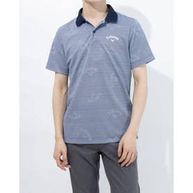 メンズ ゴルフ 半袖シャツ 半袖シャツCWプリントカノコ 2411134511 (ネイビー)