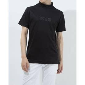 メンズ ゴルフ 半袖シャツ 半袖モックシャツWIND SENSORロゴPT 2411134544 (ブラック)