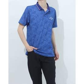メンズ ゴルフ 半袖シャツ 半袖シャツメッシュカノコ 2411134529 (ブルー)