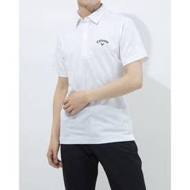 メンズ ゴルフ 半袖シャツ 半袖シャツフラワージャカード 2411134535 (ホワイト)