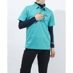 メンズ ゴルフ セットシャツ 半袖シャツWIND SENSORインナー付 2411134540 (ブルー)