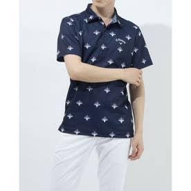 メンズ ゴルフ 半袖シャツ 半袖シャツWIND SENSORサンゴPT 2411134543 (ネイビー)