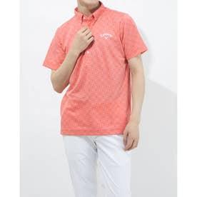 メンズ ゴルフ 半袖シャツ 半袖シャツWIND SENSORシェブロンPT 2411134541 (ピンク)