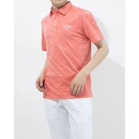メンズ ゴルフ 半袖シャツ 半袖シャツフラワージャカード 2411134535 (ピンク)