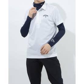 メンズ ゴルフ セットシャツ 半袖シャツWIND SENSORインナー付 2411134540 (ホワイト)