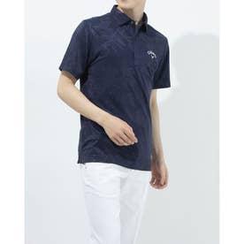 メンズ ゴルフ 半袖シャツ 半袖シャツフラワージャカード 2411134535 (ネイビー)