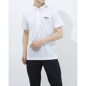 メンズ ゴルフ 半袖シャツ 半袖シャツWIND SENSORシェブロンPT 2411134541 (ホワイト)