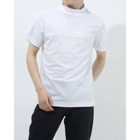 メンズ ゴルフ 半袖シャツ 半袖モックシャツWIND SENSORロゴPT 2411134544 (ホワイト)