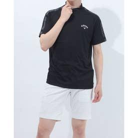 メンズ ゴルフ 半袖シャツ 半袖シャツスクエアメッシュ 2411134522 (ブラック)