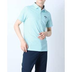 メンズ ゴルフ 半袖シャツ 半袖シャツイソギンチャクメッシュボーダー 2411134533 (ブルー)