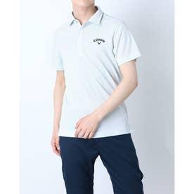 メンズ ゴルフ 半袖シャツ 半袖シャツイソギンチャクメッシュボーダー 2411134533 (ホワイト)