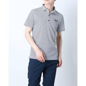 メンズ ゴルフ 半袖シャツ 半袖シャツイソギンチャクメッシュボーダー 2411134533 (ネイビー)