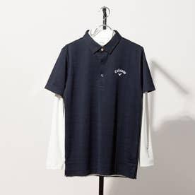 メンズ ゴルフ セットシャツ 21M8AP SS Shirts06 wInner_ 3546228024 (ネイビー)