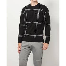 メンズ ゴルフ 長袖セーター 21M9CW Sweater07 Intersha JQ_ 3546217585 (ブラック)