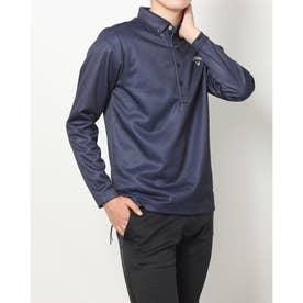 メンズ ゴルフ 長袖シャツ 21M9CW LS Shirts06 Herringbone_ 3546214409 (ネイビー)