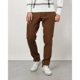 メンズ ゴルフ ロングパンツ 21M9CW Pants10 Twill Check_ 3546224057 (ブラウン)