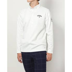 メンズ ゴルフ 長袖シャツ 21M9CW LS Shirts06 Herringbone_ 3546214324 (ホワイト)