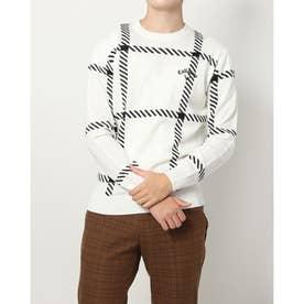 メンズ ゴルフ 長袖セーター 21M9CW Sweater07 Intersha JQ_ 3546217660 (ホワイト)
