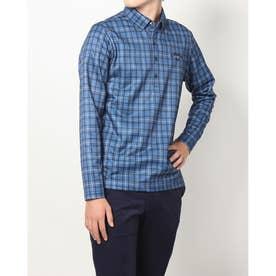 メンズ ゴルフ 長袖シャツ 21M9CW LS Shirts07 Check PT BD_ 3546214249 (ブルー)