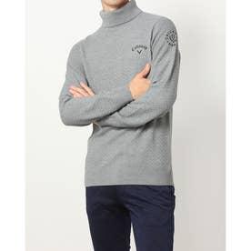 メンズ ゴルフ 長袖セーター 21M9CW Sweater09 Turtleneck_ 3546219909 (グレー)