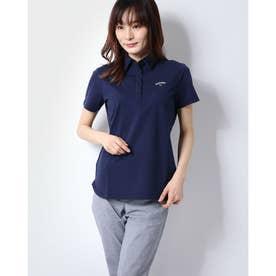レディース ゴルフ 半袖シャツ 半シャツカラーシャツサッカーストライプ 2410134804