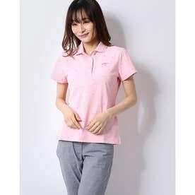 レディース ゴルフ 半袖シャツ 半シャツポロ襟シェブロンプリント 2410134805