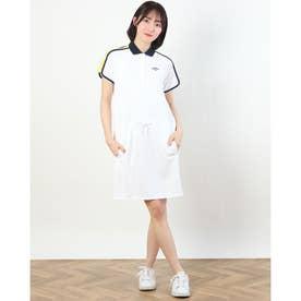 レディース ゴルフ 半袖ワンピース ワンピース変形カノコ 2411129801 (ホワイト)